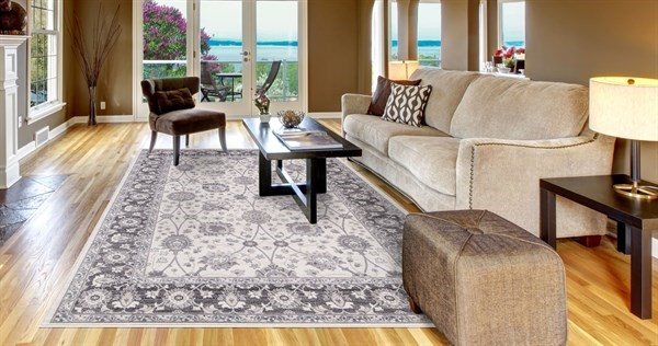 Ivory, Grey (4531) Traditional / Oriental Area Rug