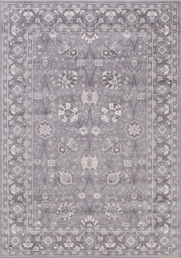 Grey (4536) Traditional / Oriental Area Rug