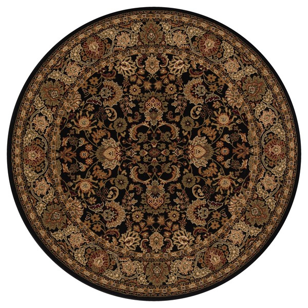 Black (2103)  Traditional / Oriental Area Rug