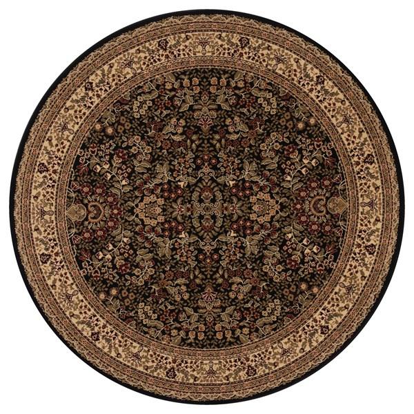 Black (2093)  Traditional / Oriental Area Rug