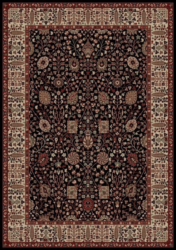 Black (2053) Traditional / Oriental Area Rug