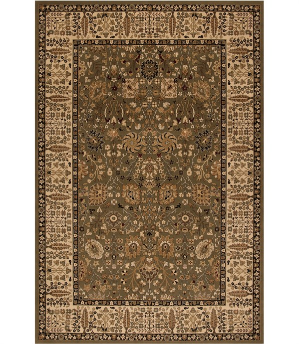 Green (2055) Traditional / Oriental Area Rug