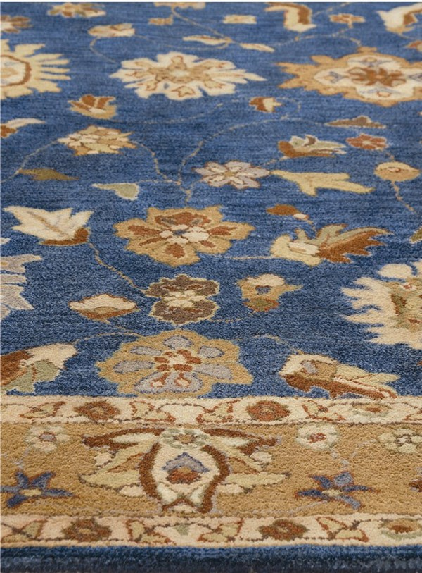 Mediterranean Blue (550) Traditional / Oriental Area Rug