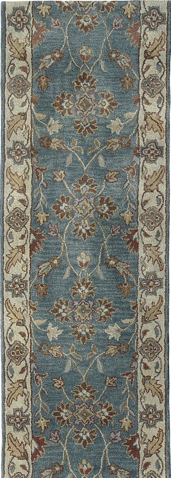 Blue, Ivory (500) Traditional / Oriental Area Rug