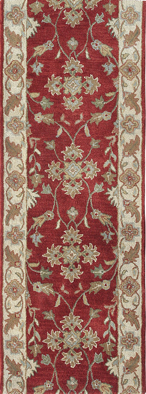 Red, Ivory (300) Traditional / Oriental Area Rug