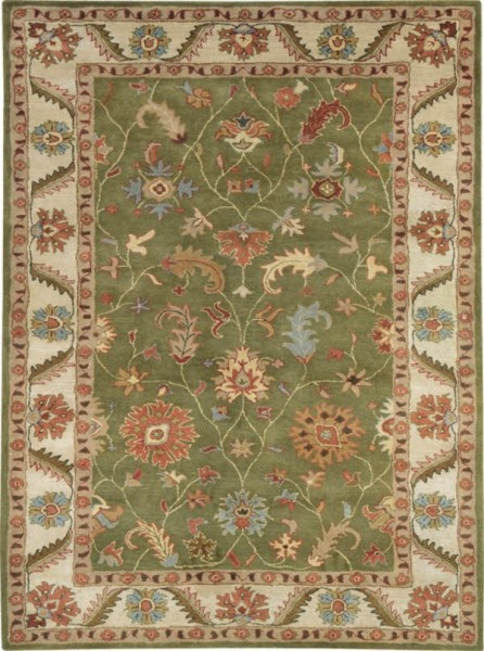 Green, Ivory (400) Traditional / Oriental Area Rug
