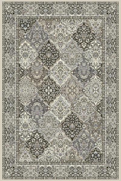 Cream, Grey (9696) Traditional / Oriental Area Rug