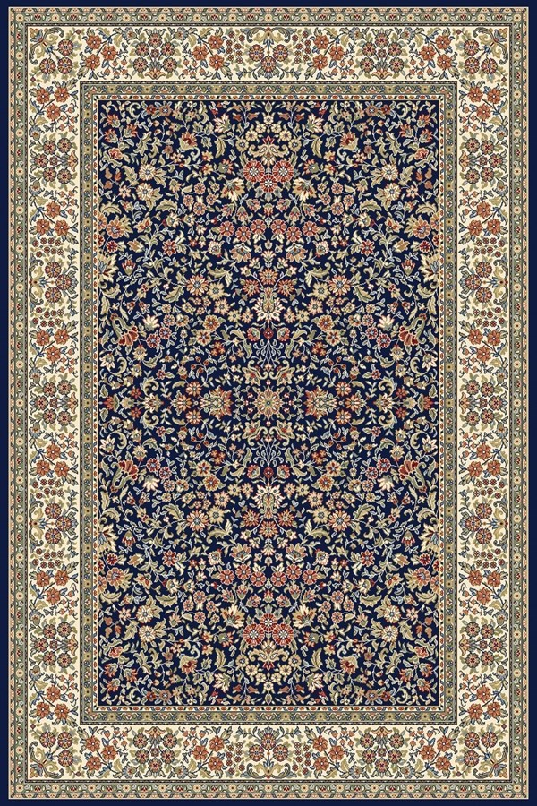 Navy, Ivory (3434) Traditional / Oriental Area Rug