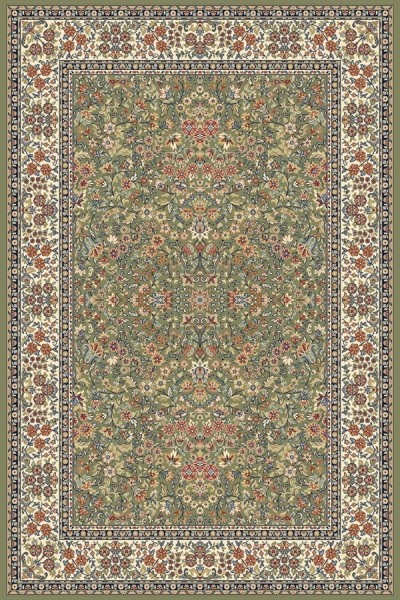Green, Ivory (4444) Traditional / Oriental Area Rug