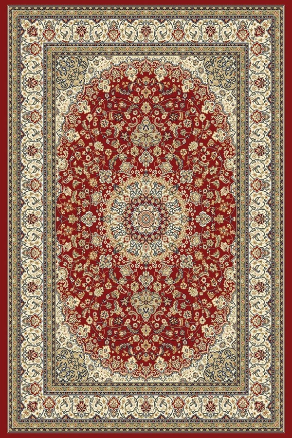 Red, Ivory (1414) Traditional / Oriental Area Rug