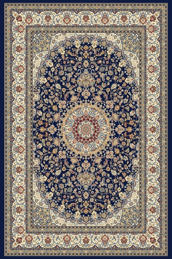 Blue, Ivory (3434) Traditional / Oriental Area Rug