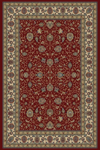 Red, Ivory (1464) Traditional / Oriental Area Rug