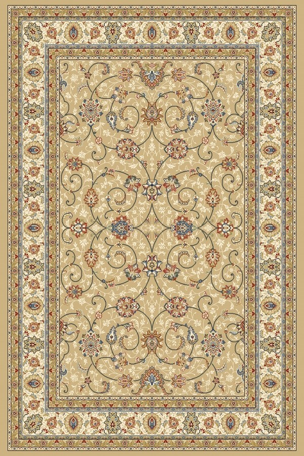 Light Gold, Ivory (2464) Traditional / Oriental Area Rug