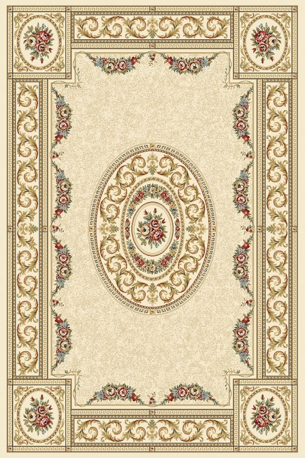 Ivory, Savonnerie (6464) Traditional / Oriental Area Rug