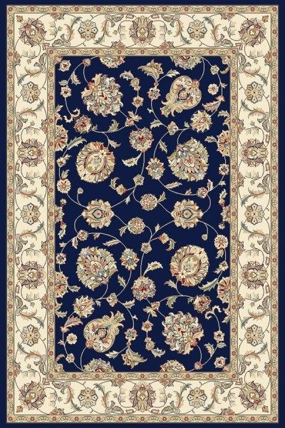 Blue, Ivory (3464) Traditional / Oriental Area Rug