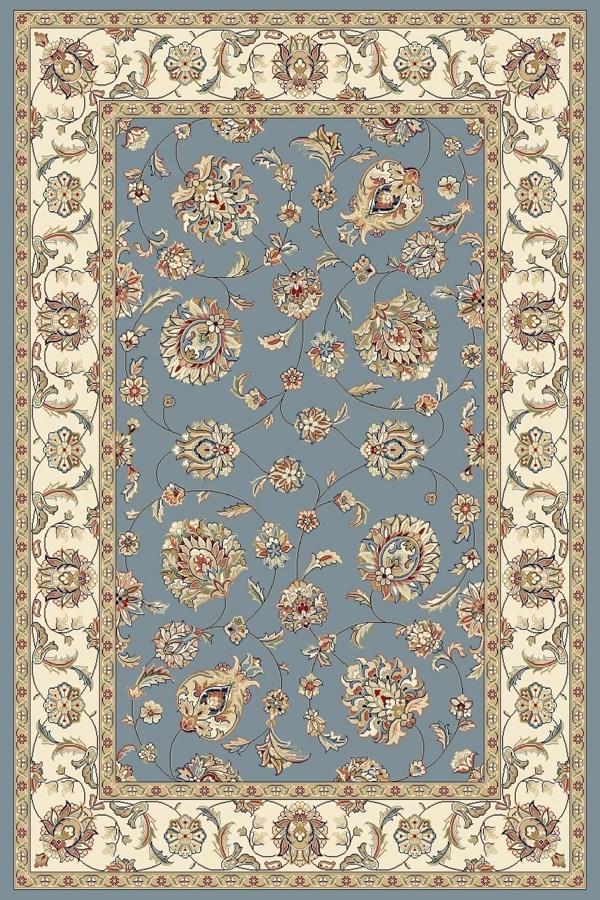 Light Blue, Ivory (5464) Traditional / Oriental Area Rug