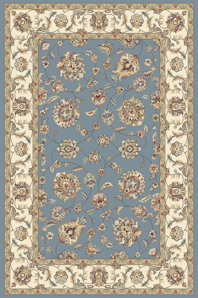 Light Blue, Ivory (5464) Traditional / Oriental Area Rug
