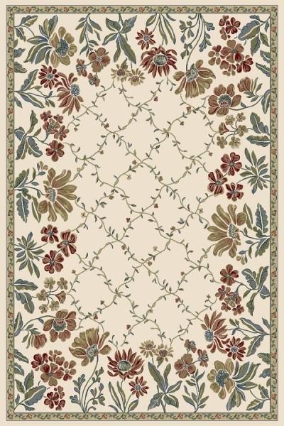 Ivory (6464) Floral / Botanical Area Rug
