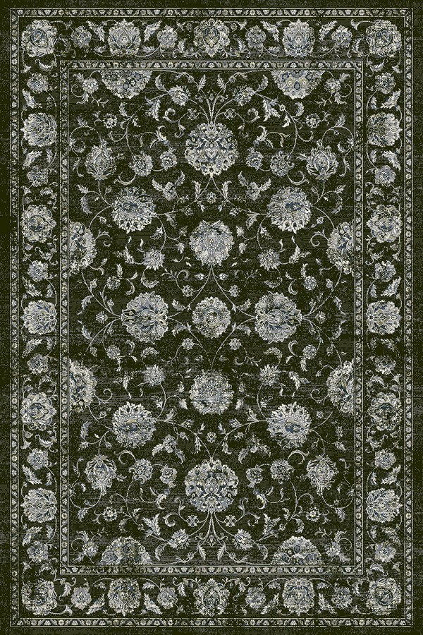 Charcoal, Silver (3636) Traditional / Oriental Area Rug