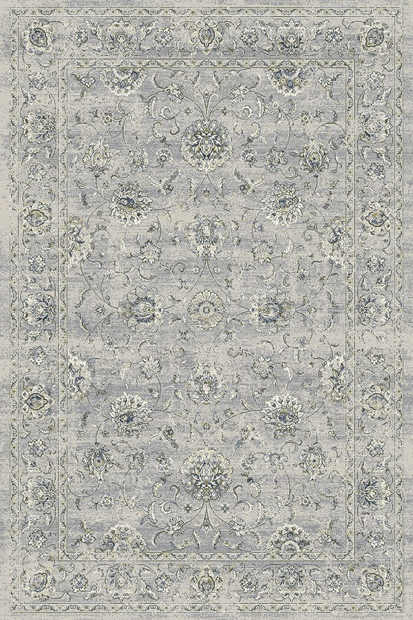Silver, Grey (9696) Traditional / Oriental Area Rug