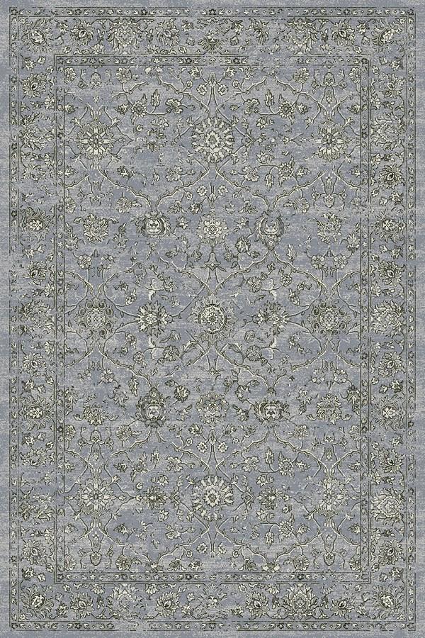 Steel Blue, Cream (4646) Traditional / Oriental Area Rug