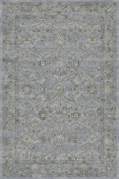 Steel Blue, Cream (4646) Traditional / Oriental Area Rug
