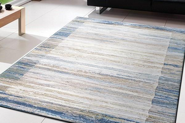 Blue, Grey (6191) Contemporary / Modern Area Rug