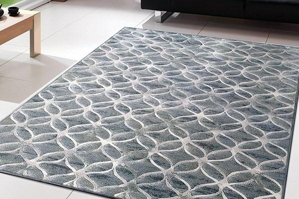 Blue (5666) Contemporary / Modern Area Rug