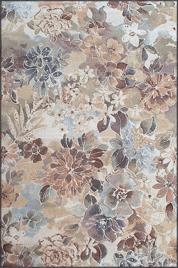 Beige, Brown (4848) Floral / Botanical Area Rug