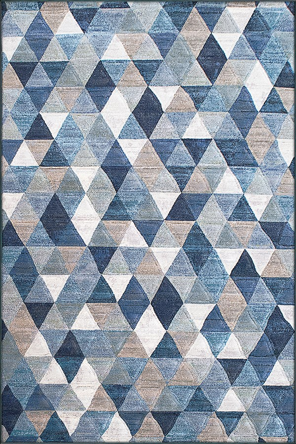 Blue, Ivory (5161) Transitional Area Rug