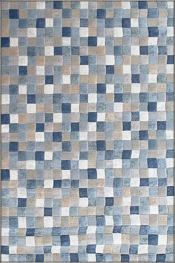 Blue, Ivory (6121) Transitional Area Rug