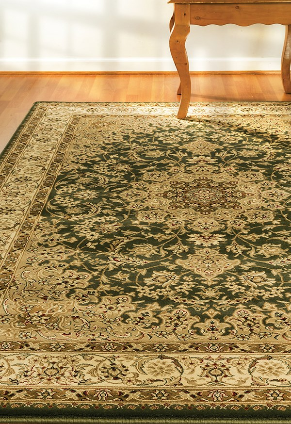 Green (420) Traditional / Oriental Area Rug
