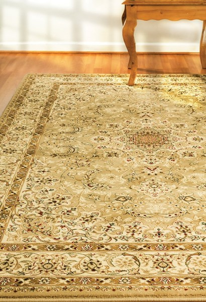 Ivory, Yellow (700) Traditional / Oriental Area Rug