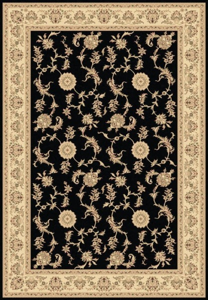Black (090) Traditional / Oriental Area Rug