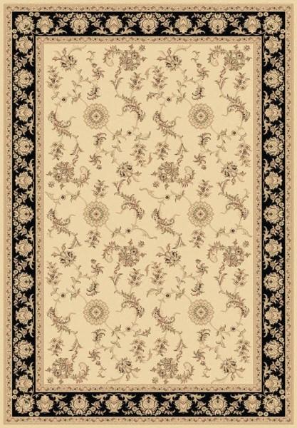 Ivory, Black (190) Traditional / Oriental Area Rug