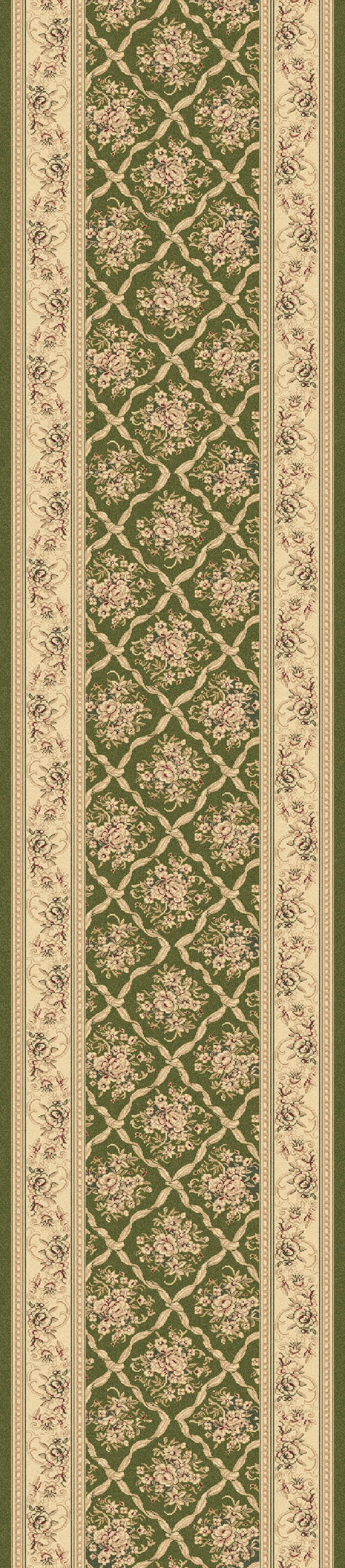 Green (440) Traditional / Oriental Area Rug