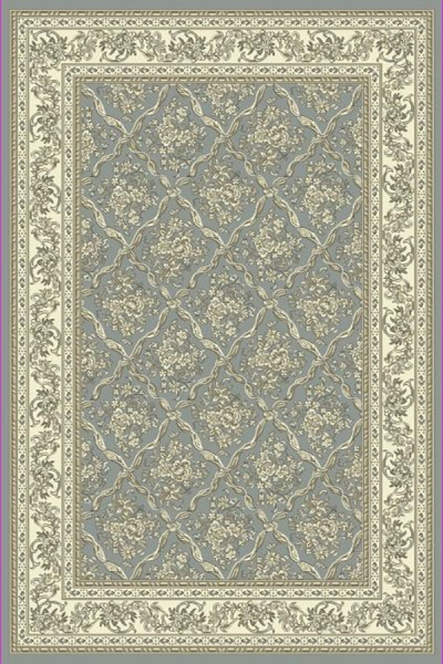 Light Blue, Ivory (510) Traditional / Oriental Area Rug