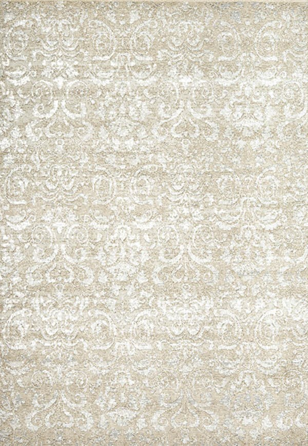 Ivory (101) Damask Area Rug