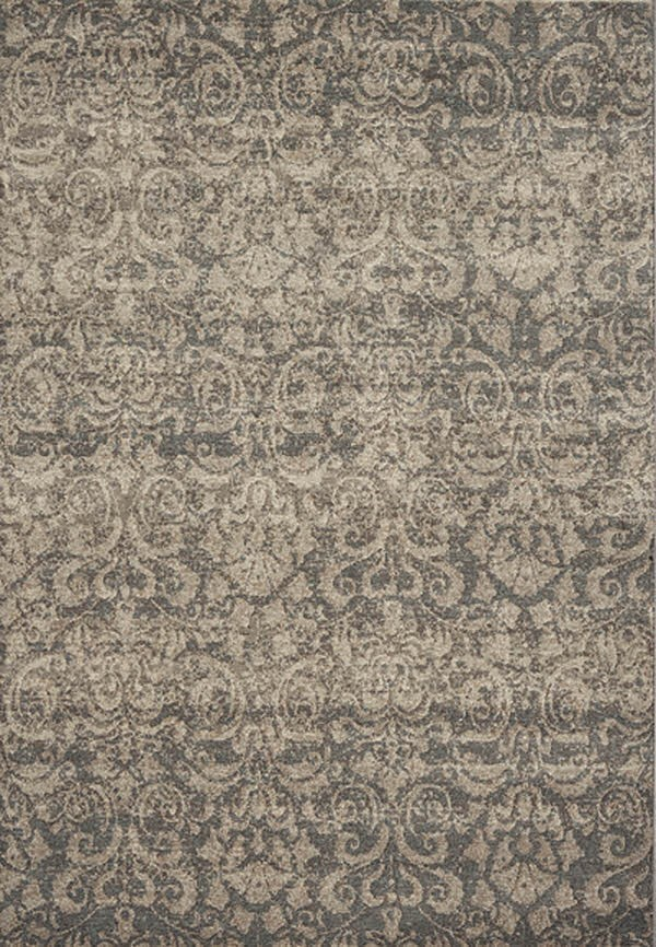 Silver (900) Damask Area Rug