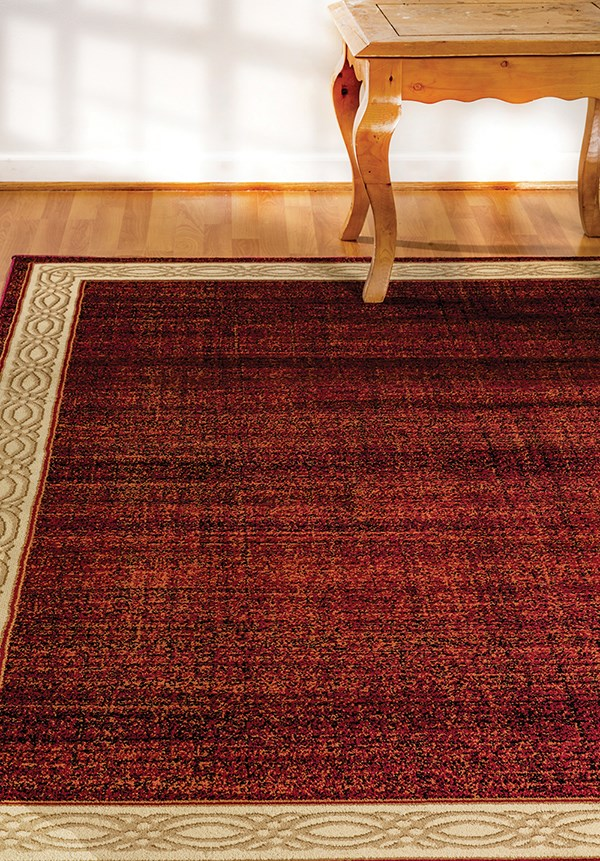Red (310) Bordered Area Rug