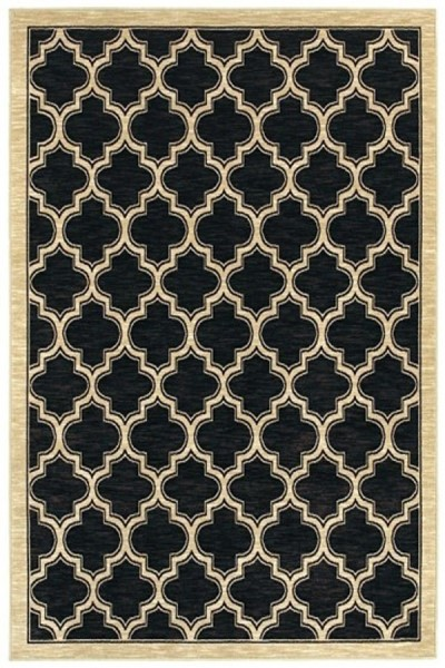 Black (090) Contemporary / Modern Area Rug