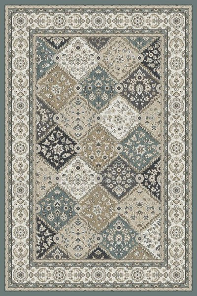 Blue, Ivory (510) Traditional / Oriental Area Rug