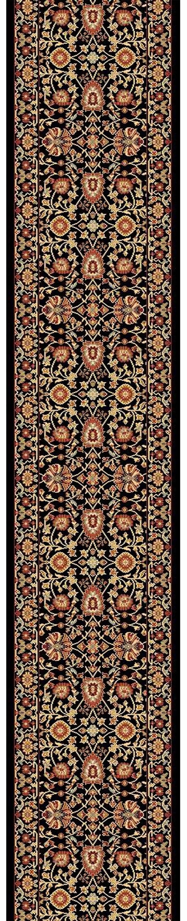Black, Black (090) Traditional / Oriental Area Rug