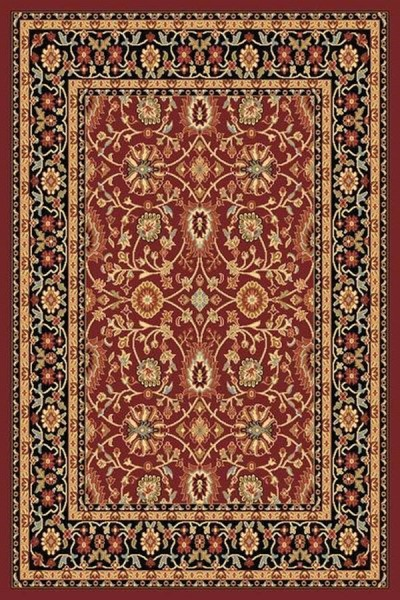 Red, Black (390) Traditional / Oriental Area Rug