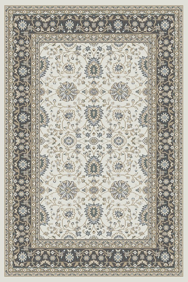 Ivory, Grey (190) Traditional / Oriental Area Rug