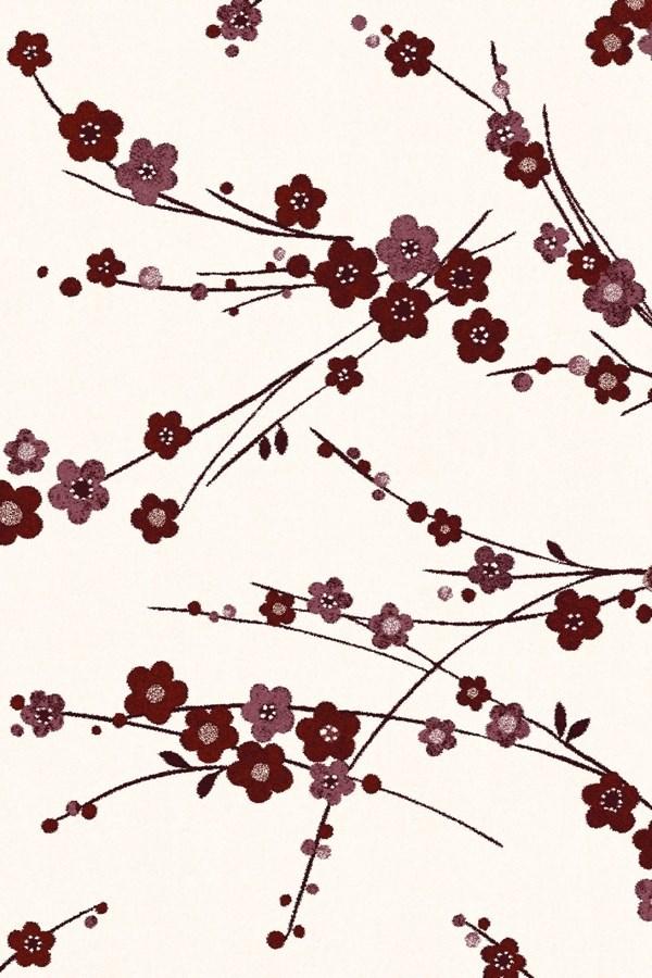 Ivory, Red (6210) Floral / Botanical Area Rug