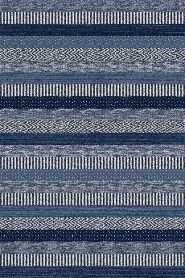 Blue (5237) Striped Area Rug