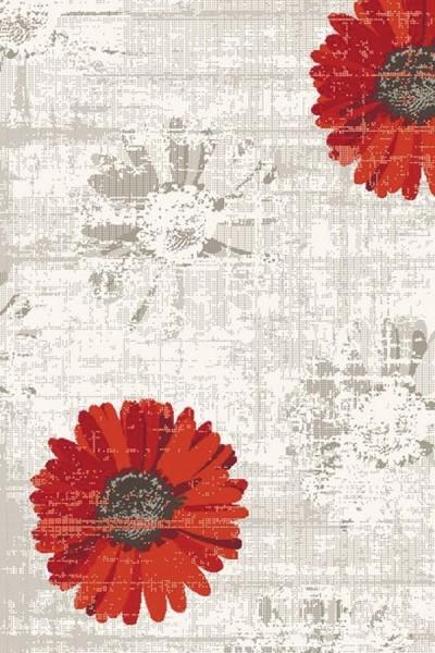 Ivory, Red (1250) Floral / Botanical Area Rug