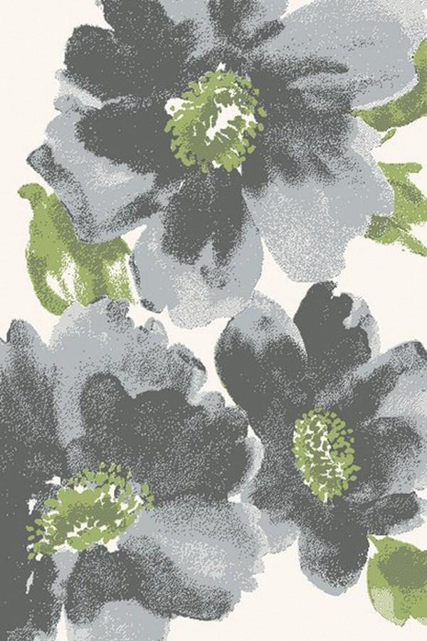 Ivory, Grey (9250) Floral / Botanical Area Rug