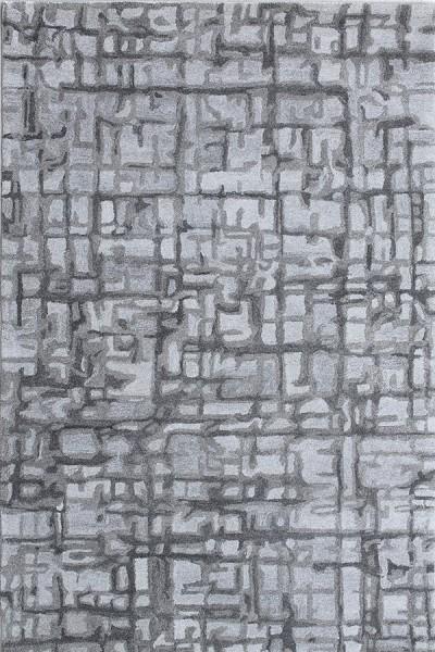 Grey (7813-900) Abstract Area Rug
